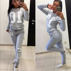 Two Piece Swear Shirt And Pants Jogging Suit